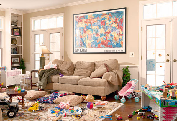 How To Clean Your House Fast Alluring Of Messy Living Room Picture